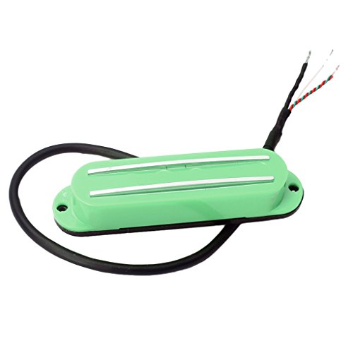 Dual Rails Single Coil Pickup For ST SG LP Electric Guitars - Green ()