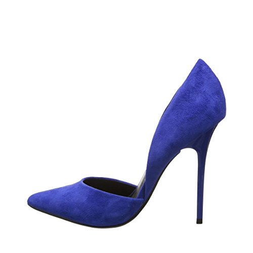 Steve Madden Varcityy Women's Classic Pointy Toe D'orsay Pumps (5.5, Blue Suede)
