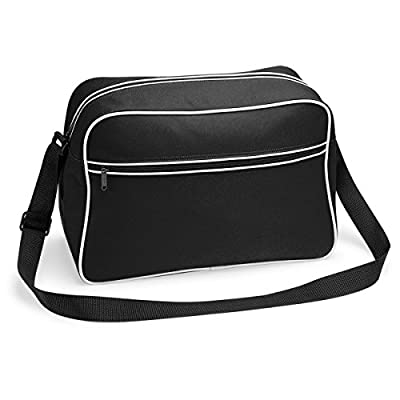 Bagbase retro Shoulder Bag in Black and White - hobos-shoulder-bags
