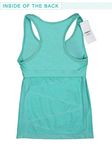 97d685f436129 VANIS Women s Yoga Tank Tops Built in Bra Stretchy Activewear Tops Long  Workout Shirts Racerback Quick