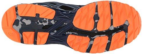 Asics hombres de la GT 20004Trail Running Shoe Mediterranean/Dark Slate/Hot Orange