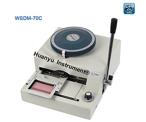 WSDM-70C PVC Card Embosser Manual Name Card Code Printer Letterpress Rotogravure Printing Machine by Huanyu Instrument