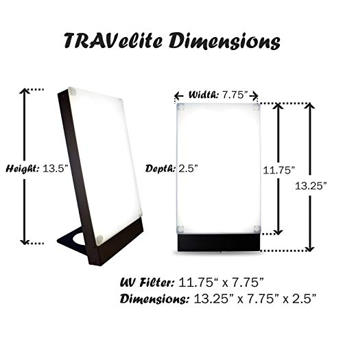 Travelite 10,000 Lux Bright Therapy Portable Desk Lamp, Black by Northern Light Technologies (Image #4)