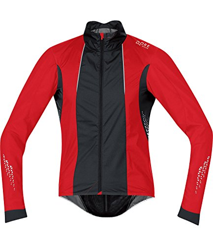 Gore Men's Xenon 2.0 Windstopper Active Shell Cycling Jacket Large Red / Black