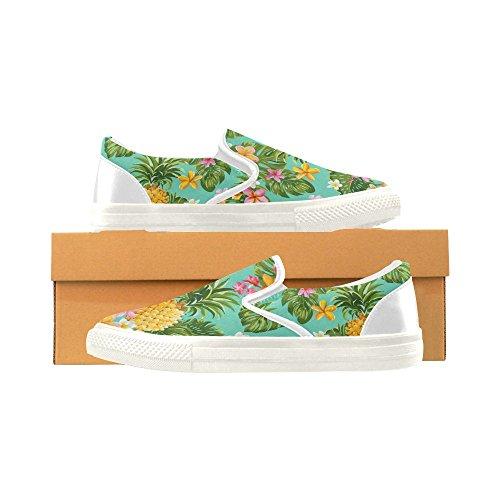 D-story Custom Sneaker Pineapples Mujer Zapatos De Lona Antideslizantes Inusuales