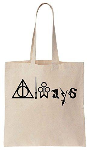 Always - Word Made Out Of Magical Symbols Sacchetto di cotone tela di canapa