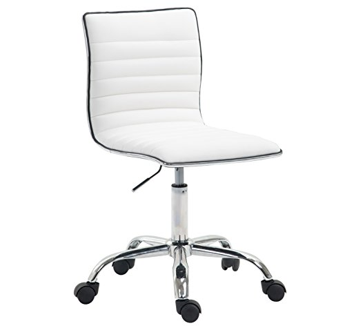 UPC 638455932067, Poly and Bark Risa Task Chair in Vegan Leather, White