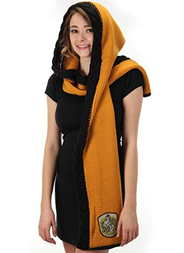 elope Harry Potter Hufflepuff Knit Hooded Scarf Yellow