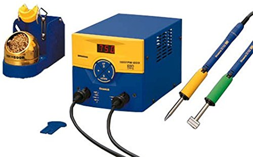 Hakko Soldering Station, Dual Port, FM-203, With Conversion by AMERICAN HAKKO PRODUCTS INC
