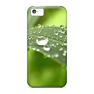 Shock-dirt Proof Gold On Leaves Case Cover For Iphone 5c