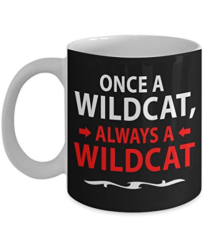 Once A Wildcat Always A Wildcat Coffee Mug - High School Musical Disney Movie Gifts Merchandise Accessories - Black - Tea Cup Funny Gift For Mother, Noel, Thank you, Mother's -