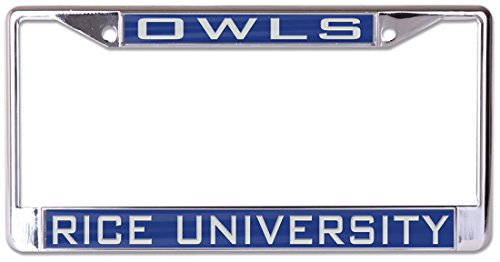 WinCraft Rice University Owls Premium License Plate Frame, Metal with Inlaid Acrylic, 2 Mount ()