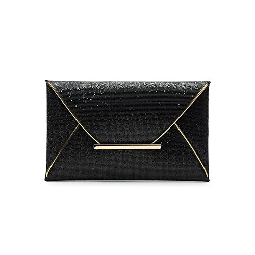 Bag Sequined Flash Bag Black Party Purse Handbags for Clutch Fashion Sun Hero Envelope Ladies q0WgX