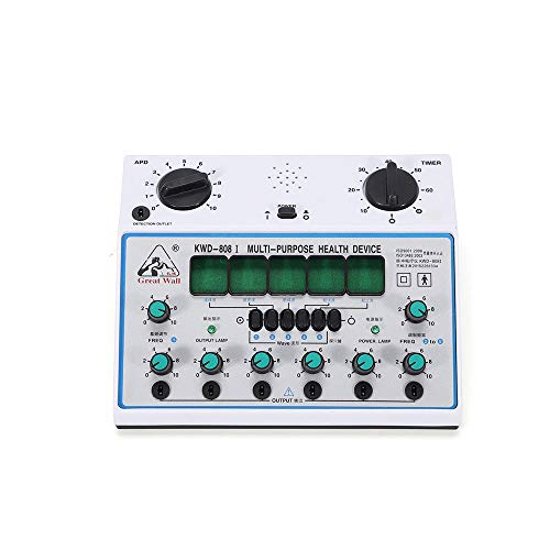 Electric Acupuncture Stimulator Machine KWD808-I 6 Output Patch Massager Care for Electric Impulse Acupuncture Treatment,500-1000hpa - US Warehouse ()