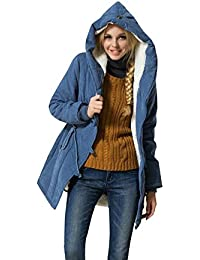 39c35c60bd33 Women s Winter Warm Coat Hoodie Parkas Overcoat Fleece Outwear Jacket with  Drawstring