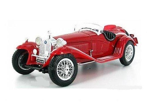 BBurago Gold - Alfa Romeo 8C 2300 Spider Touring Convertible (1:18, Red) diecast car model Italian classic design (2300 Spider)