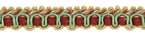 D/ÉCOPRO Gold 3752 Wine Green 1//2 inch Imperial IIGimp Braid Style# 0050IG Color: Holiday Splendor Sold by The Yard