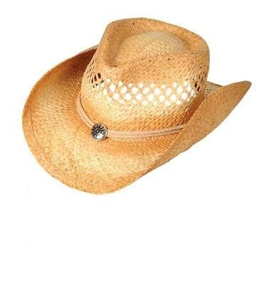 Rhode Island Novelty Vented Tea Stained Straw Cowboy Hat | One Per Order -