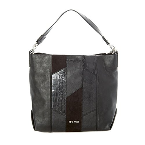 West Up Convertible Black Medley Hobo Leather Nine Faux Womens Handbag BAdvwSBxq