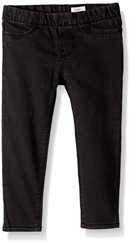 - Osh Kosh Girls' Toddler Denim Jegging, Summit Black, 4T
