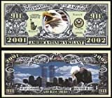 9/11 Anniversary WTC Memorial Commemorative Bill In Top Quality Currency Holder