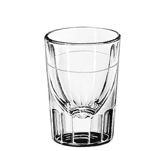 Libbey Lined Fluted 1.25 oz Whiskey Glass