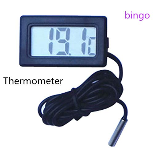 Indoor Outdoor Digital Large Display Temperature Monitor Multifunctional Weather Station,Mini Thermometer Temperature Meter Digital LCD Display,Weather Thermometers for Home, Car, Office (Black)