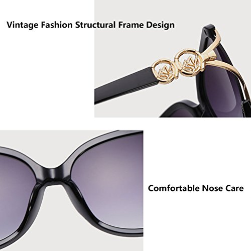 amp; Zhuhaitf Qualité Case Women Oversized Fit for Black Fashion Ladies Storage Perfect Sunglasses Eyeglasses Bonne Girls rnY85qxar