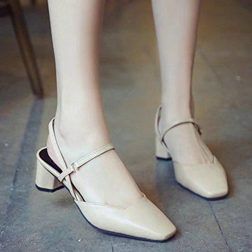 Les À Light L'épaisseur L'aise Pour Président Chaussures Souliers Baotou Sandales heel Romain High Eu34 Avec Shoeshaoge buckle wIT0AxnqI