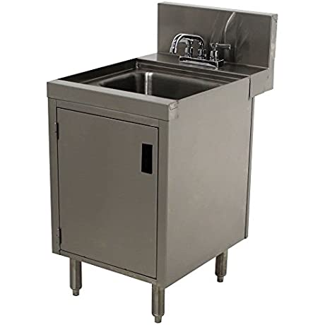 Advance Tabco PRHSC 24 18 Prestige Series Stainless Steel Underbar Hand Sink With Cabinet Base 25 X 18