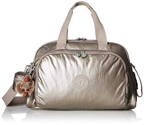 Kipling Camama Diaper Bag, Metallic Pewter