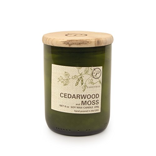 Green Butter Soap - Paddywax Eco Collection Scented Soy Wax Jar Candle, 8-Ounce, Wood & Moss