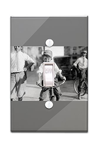 western-union-bike-messenger-boy-photograph-light-switchplate-cover