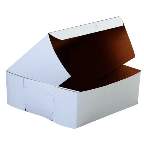 Southern Champion Tray 0991 Premium Clay Coated Kraft Paperboard White Non-Window Lock Corner Bakery Box, 14
