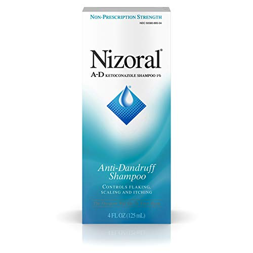 Nizoral A-D Anti-Dandruff Shampoo with Ketoconazole 1%, Dry Itchy Scalp Shampoo for Dandruff Control & Relief, 4 fl. oz (Best Medicated Shampoo For Hair Loss)