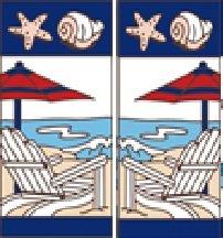 Beach Scene Tile (TWO 3
