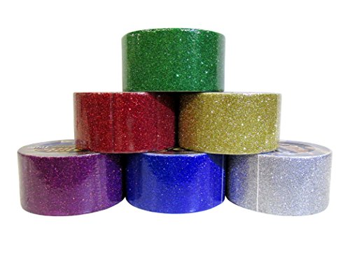 6 Color Glitter Duct Style Tape Roll Set