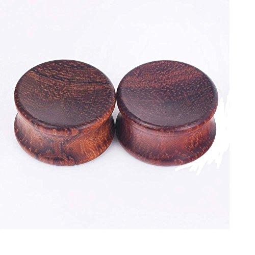 handi_ju PAIR-Original Concave Bubinga Wood Earlets Ear Stretcher Piercing Jewelry Guages (Bubinga Body)