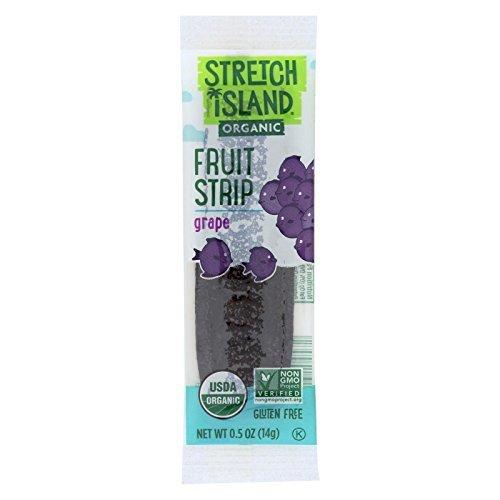 Stretch Island, Organic Fruit Strip; Grape, Pack of 20, Size - .5 OZ, Quantity - 1 Case