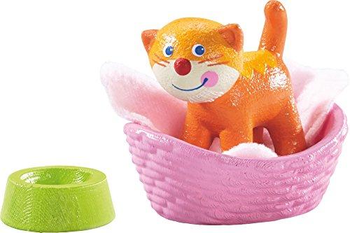 HABA Little Friends Cat Kiki with Basket, Blanket & Bowl