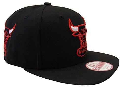 Chicago Bulls New Era Met Pop Snapback Cap Hat Black