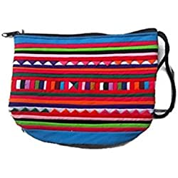 Dconfident Graphic Travel Cosmetic Makeup Bags Eyebrow Pencil Student Pencil Bag ThaiSilkPattern