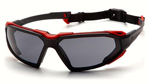 Pyramex SBR5020DT Highlander Safety Glasses Blk-Red Gray Ant