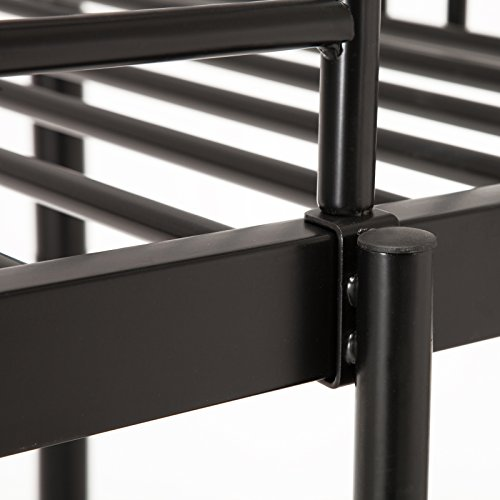 Mecor Twin Over Twin Metal Removable Bunk Beds With Ladder