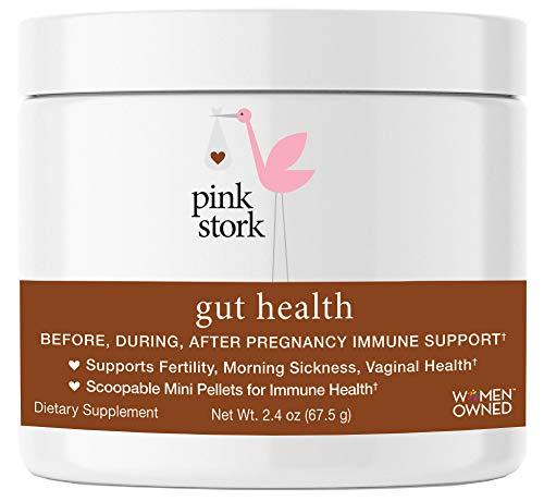 Pink Stork Gut Health: Immune Support -Vaginal Health, Morning Sickness,  Fertility -Gut & Immune Wellness -Tasteless Monolaurin Pellets