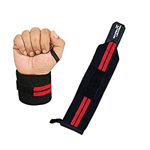 WRIST SUPPORT WRAPS GYM WEIGHT LIFTING BODYBUILDING BANDAGE STRAPS