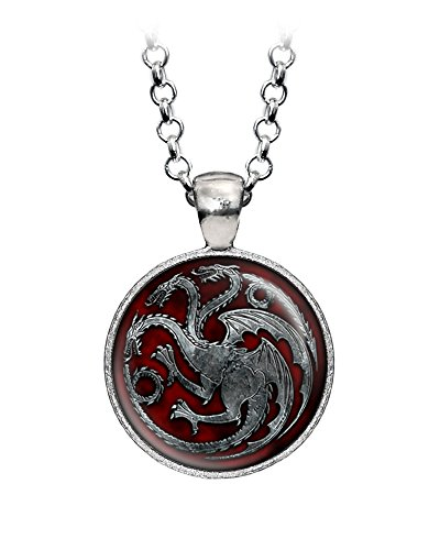 Game of Thrones Targaryen Pendant, khaleesi Necklace, Daenerys Jewelry, Geek Jewelry, Geeky Girl Gift, Nerd Present, Nerdy Birthday (Dragon Girl Game Of Thrones)