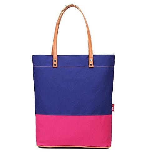 Borse Viaggio a Tessuto Moda cerniere VogueZone009 di tracolla tela Borse Azzurro Donna 1wq86