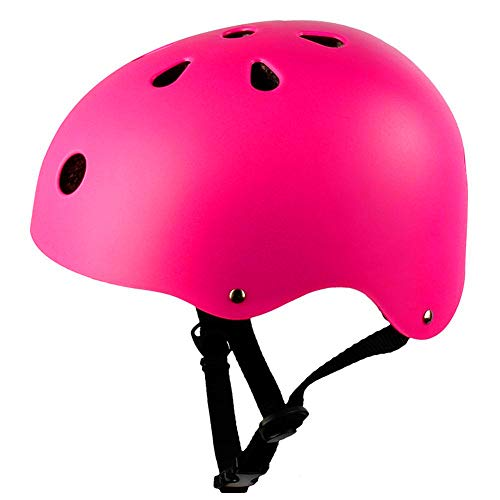 Bicycle helmet riding roller skate skateboard safety helmet head protector light and breathable(Pink)