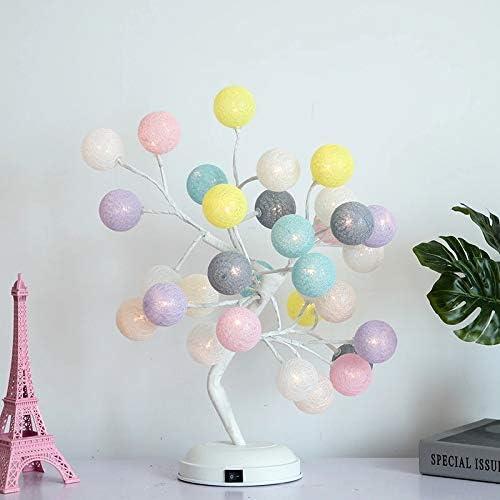 RZH Lámpara de Mesa con Forma de Rosa, árbol de luz Regalo niña ...